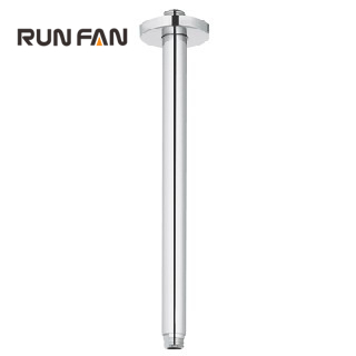 Bathroom 29 cm Solid Brass Chrome Round Ceiling Mounted Connecting Pipe Rain Shower Arm for Shower Head Shower Accessories(China (Mainland))