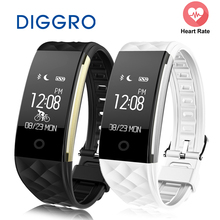 Buy Diggro Bluetooth 4.0 S2 Smart Wristband Band Heart Rate Monitor Sport IP67 Waterproof OLED Smartband Bracelet Android IOS for $17.99 in AliExpress store
