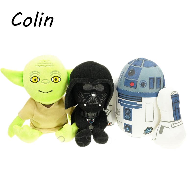 3pcs/lot Star Wars Plush Toys Darth Vader Yoda Soft Stuffed Anime Doll Brinquedos Kids Toy Gifts WJ253(China (Mainland))