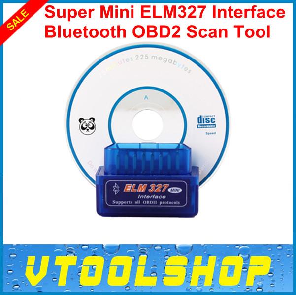 Super mini ELM 327,mini 327 bluetooth,elm327 works on Android Torque super Professtinal OBD II obd 2 Scanner tool+free shipping(China (Mainland))
