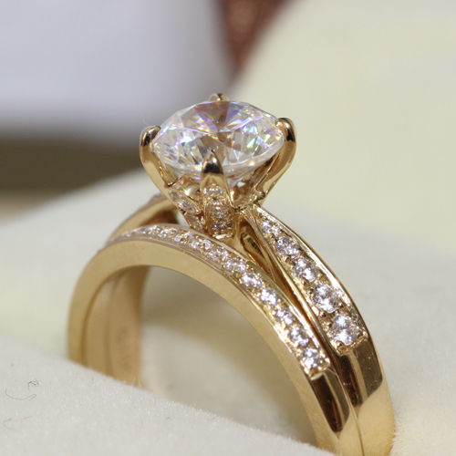 d vvs1 real 14k yellow gold 1ct brilliant cut nscd