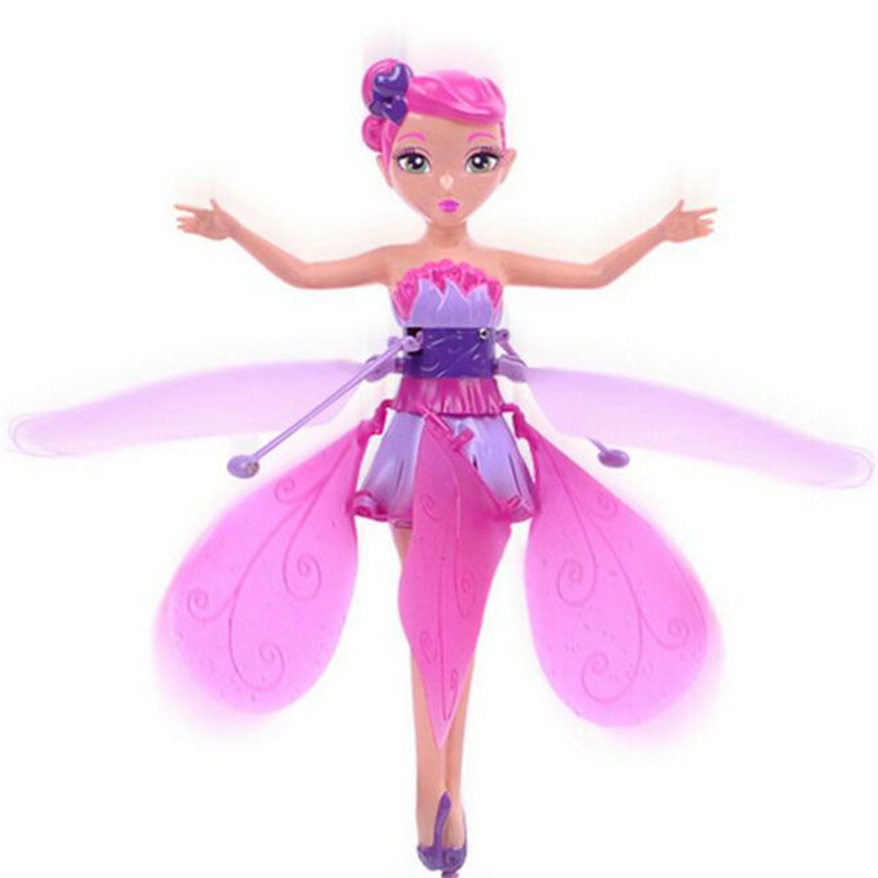 2015 NEW Toys Flying Angel Fairy Infrared Induction Control Flying Doll Electric toys Dolls Cheap Plastic Boneca Flying FairyL36(China (Mainland))