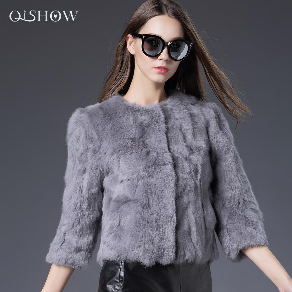 Customizable 2016 new style Real Rex Rabbit Fur coat O-Neck Thin fashion Noble fur coat Real photographs free shopping(China (Mainland))