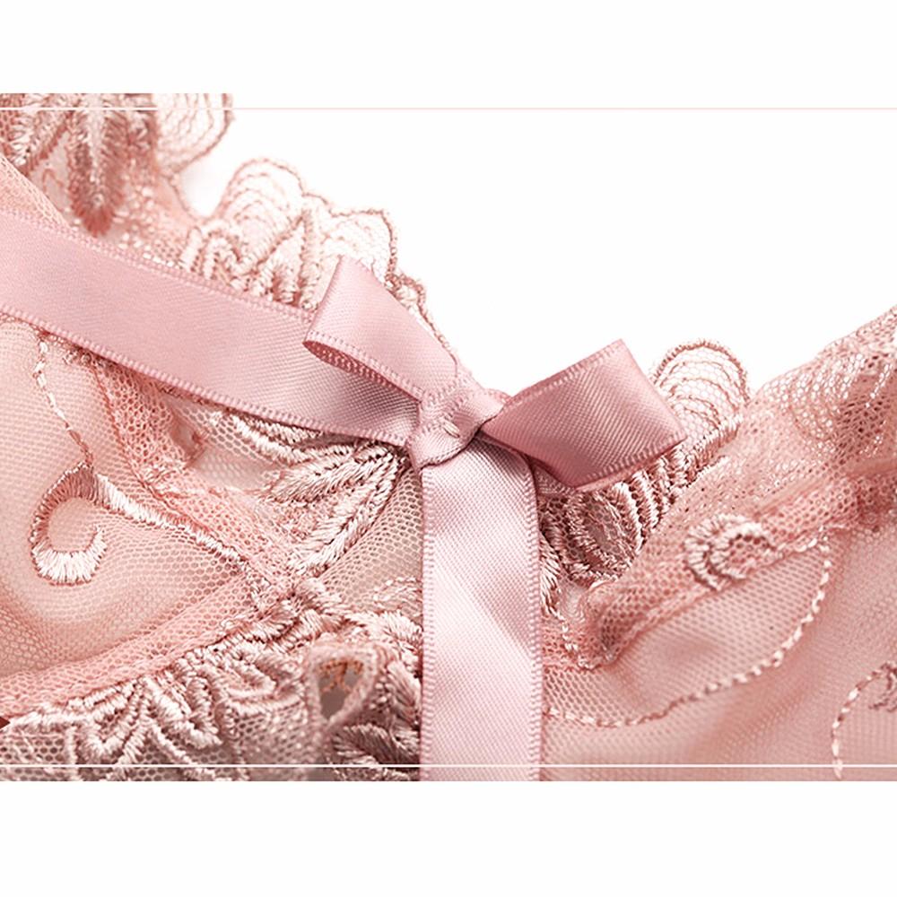 Hot Brand Lady Lace Bralette Bra Set Top Cups sujetador encaje Underwear Women Lingerie Sexy Panties A B C D 32 34 36 38 40 42