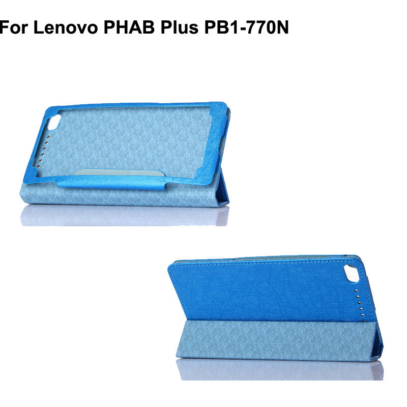 "1Lenovo PHAB PT-770N PU leather stand case,PHAB 6.8 inch"" tablet protective cover funda,can mix color"""