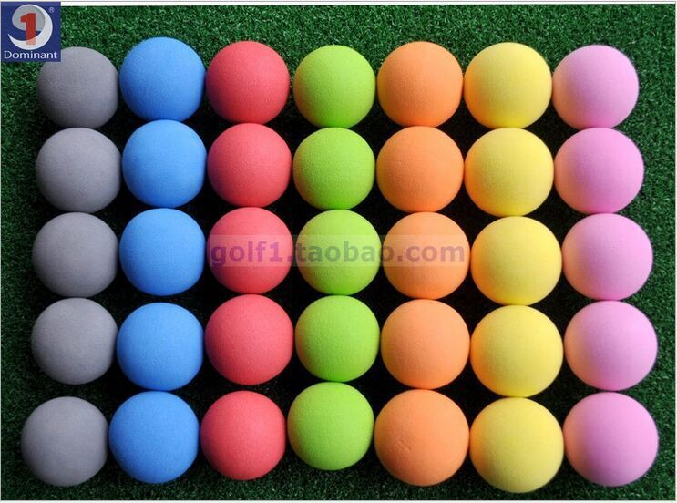 2015 summer new Hot Special new golf indoor ball indoor exercise ball foam ball EVA monochromatic ball 7 color choice(China (Mainland))