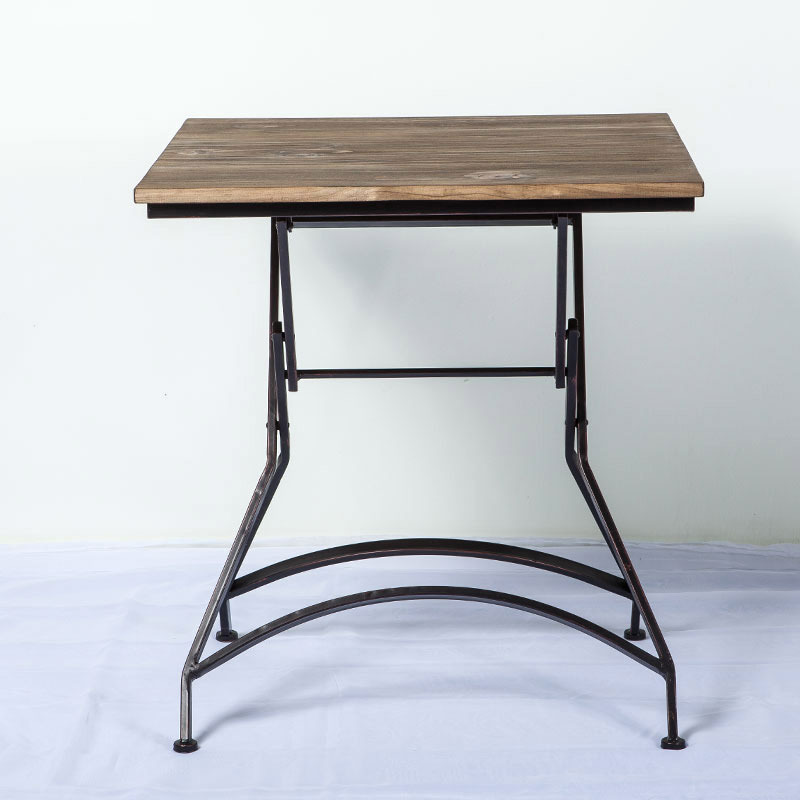 The New Iron Household Simple Wood Dining Table Dining