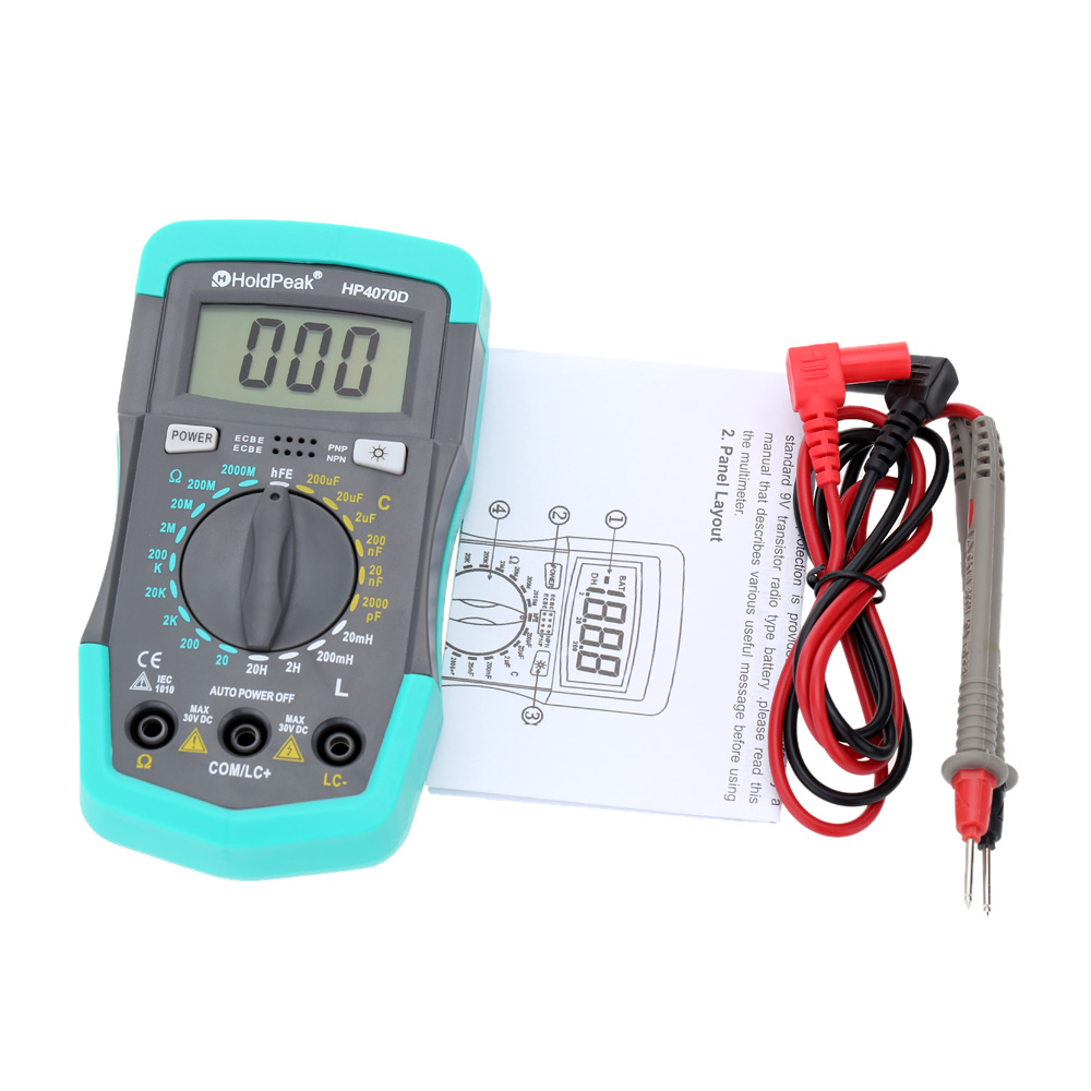 Electrical Resistance Meter : Hp d mini digital multimeter resistance meter