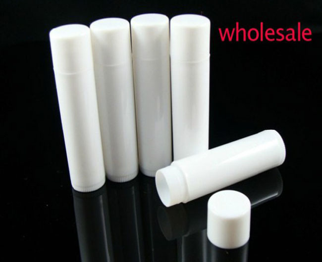 200 pcs/lot Plastic whitelipstick tube 5ml lip balm tube, empty white lipstick cosmetic packing HZ02 - july bright's store