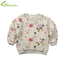 Baby Girls Spring Autumn Cotton  Sweaters  Little Girls Comfortable Flower Sweater Cute Short Floral casual fashion clothing(China (Mainland))