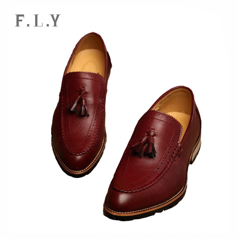 fashion Bullock style summer mens PU leather shoes Tassel Slip-on men loafers Walking Lazy zapatos hombre Plus size PY0100 - NO.1 store