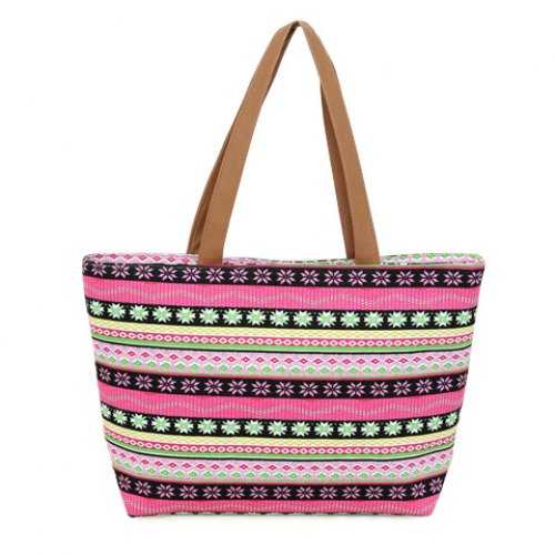 Fashionable Women's Shoulder Bag Canvas and Floral Print Design Handbags 2015 New Totes High Quality(China (Mainland))