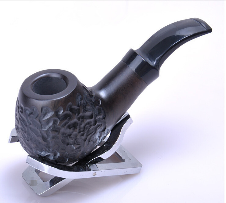 2015 Brand Smoking Pipe New 1x Durable Wooden Smoking Tobacco Pipes Brown Color Ebony Tube for