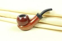 Men's Wooden Pipe Tobacco Smoking Pipe Hot sales Handmade 1set/lot Durable Wooden Mens Durable Sheath Fashing