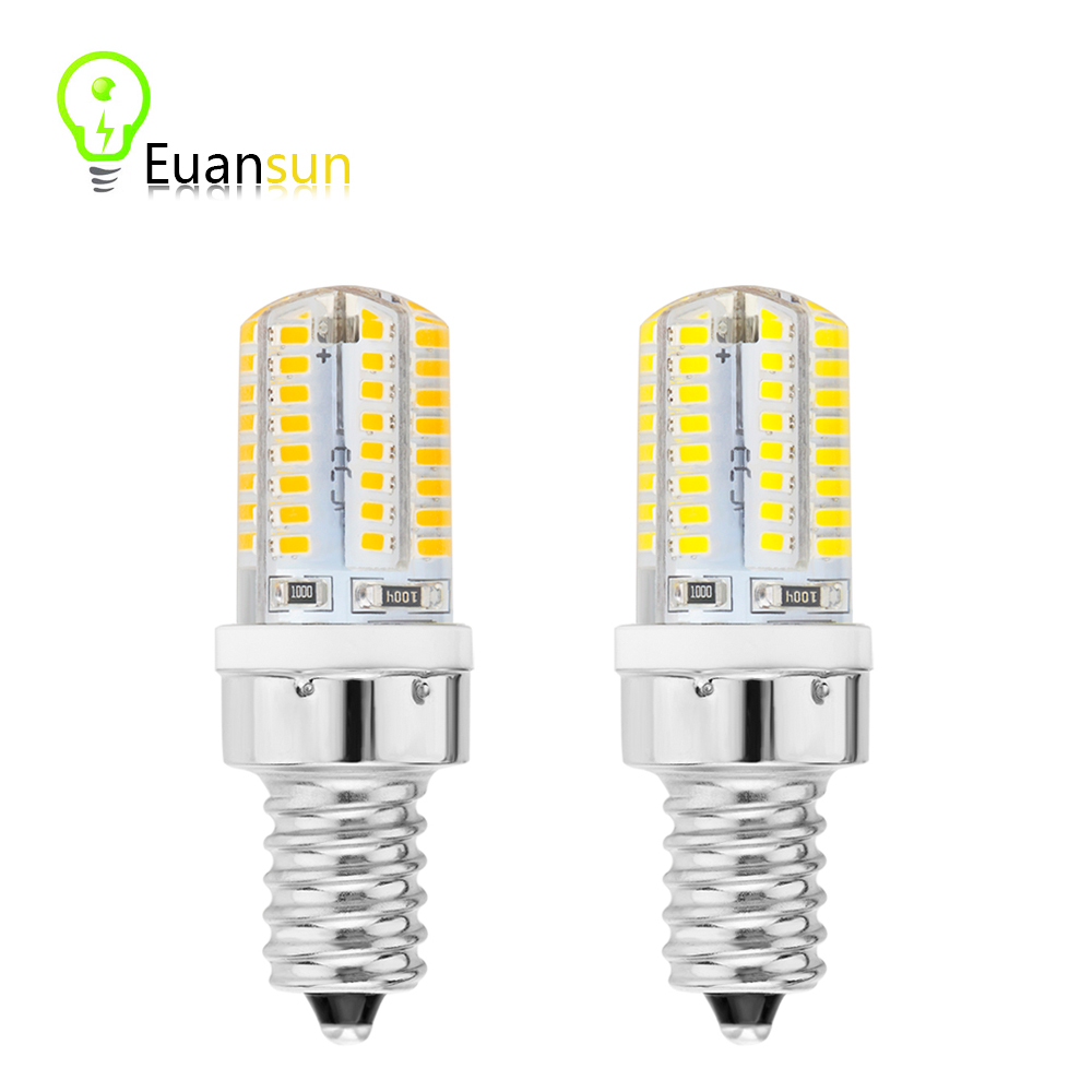 New arrival mini E14 LED Bulb Lamp led E14 220v 6W 64 pcs led SMD 3014 Silicone Body Light warm white Replace Halogen Lamp(China (Mainland))