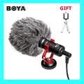 In Stock Original BOYA BY MM1 Camera Video Microphone Shotgun Microphone Video Interview Mic for iPhone