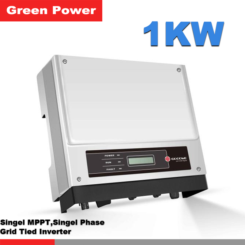 GW1000-NS Goodwe grid tied inverter,new update transformerless 1kw 230v output power inverter connected 250 260w solar panel(China (Mainland))
