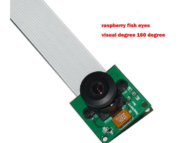Raspberry Pi camera Raspbian webcam Rpi Pie Fisheye Module Wide Angle160 Degrees Monitoring Tiny 500 minillion 5MP Pixedls diy(China (Mainland))