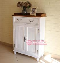 European-style garden white whole wood surface wood porch shoe cabinet lockers Specials(China (Mainland))
