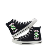 Riverdale Printing Cartoon high top breathable canvas uppers sneakers student personalise fashion Sandshoes A193111(China)