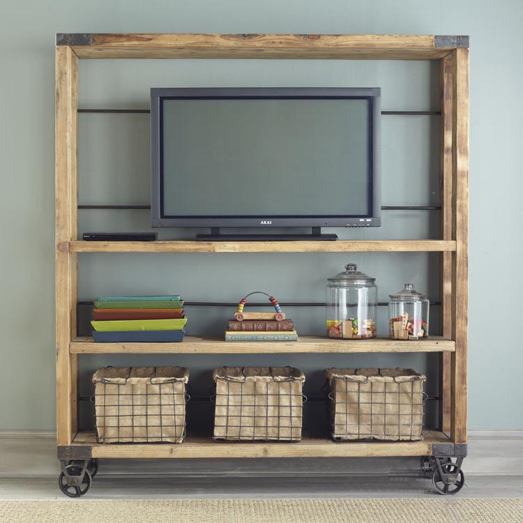Americana estanter a creativa de madera estante de - Estanterias hierro forjado ...
