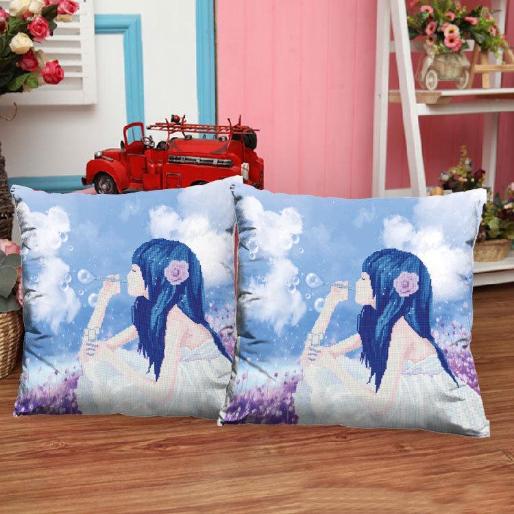 Гаджет  3D printing happy bubble stitch pillow newest cute cartoon characters living room sofa pillow cushions None Изготовление под заказ