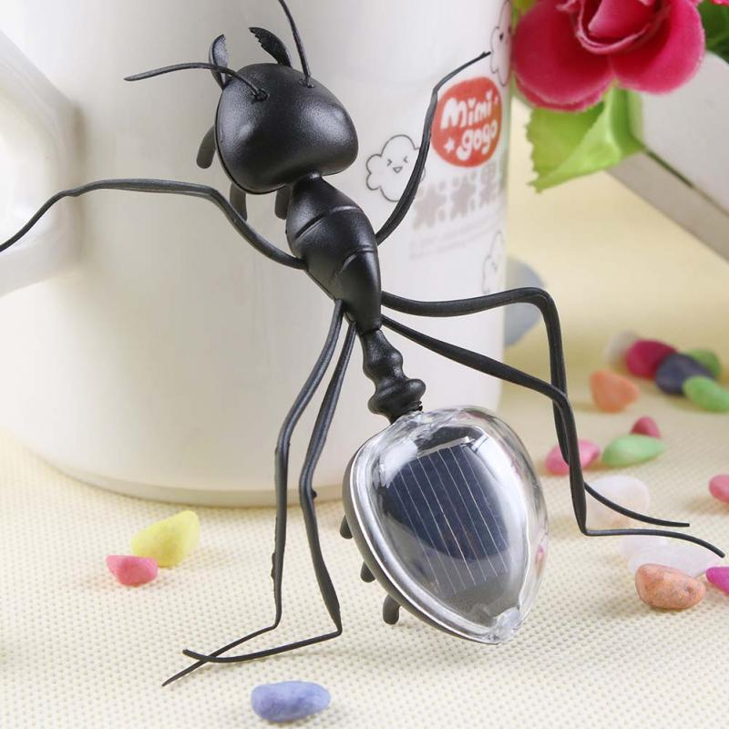 New Kids Solar Toys Power Energy Solar Ant Black Children Insect Bug Teaching Fun Gadget Toy Gift -y2(China (Mainland))