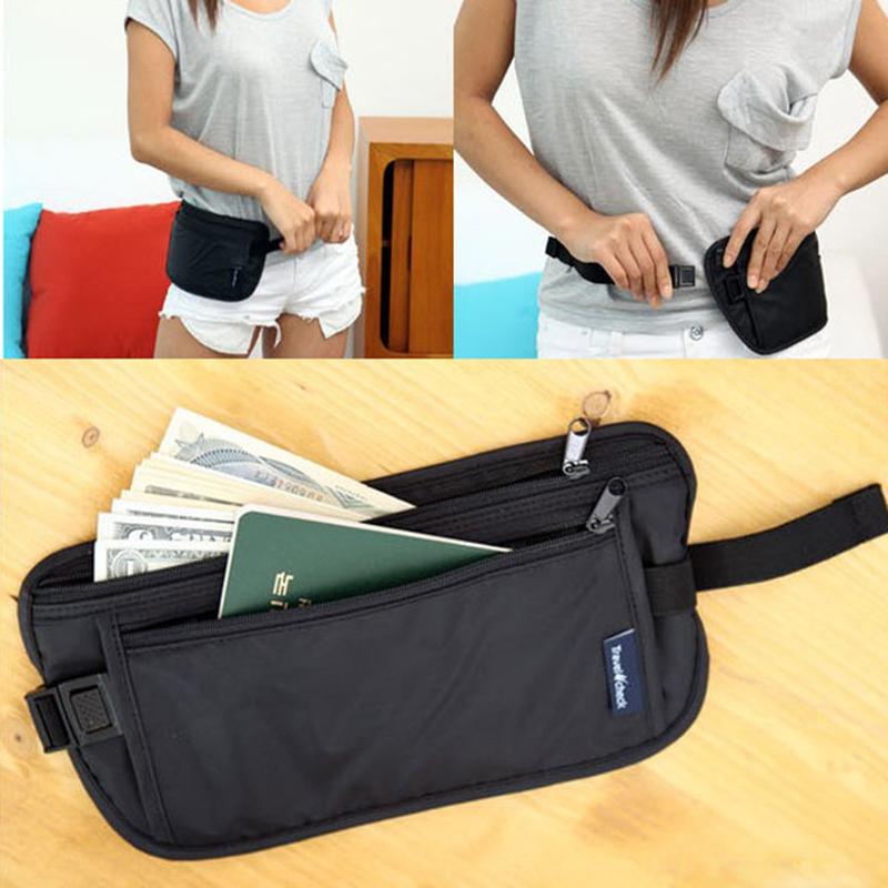 Travel Sport Pouch Bag Hidden Compact Security Money Waist Belt Holder Pocket #L09582(China (Mainland))