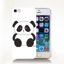panda Hard Transparent Cover Case for iPhone 4 4s 5 5s 5c 6 6s Protect Phone Cases