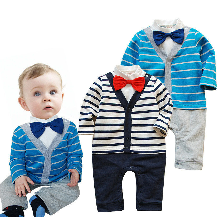 Bebe baby boy fashion long sleeve style 2015 New baby boy clothing stripe suit kids clothes sets bebe clothing sets(China (Mainland))