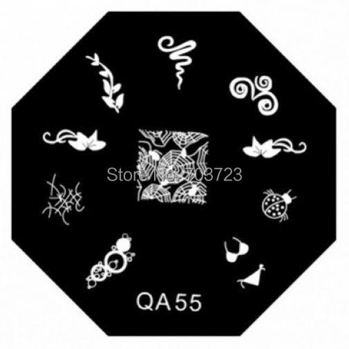 QA series Nail image plate mold template set nail printer nail scraping tool Insect Cobweb QA