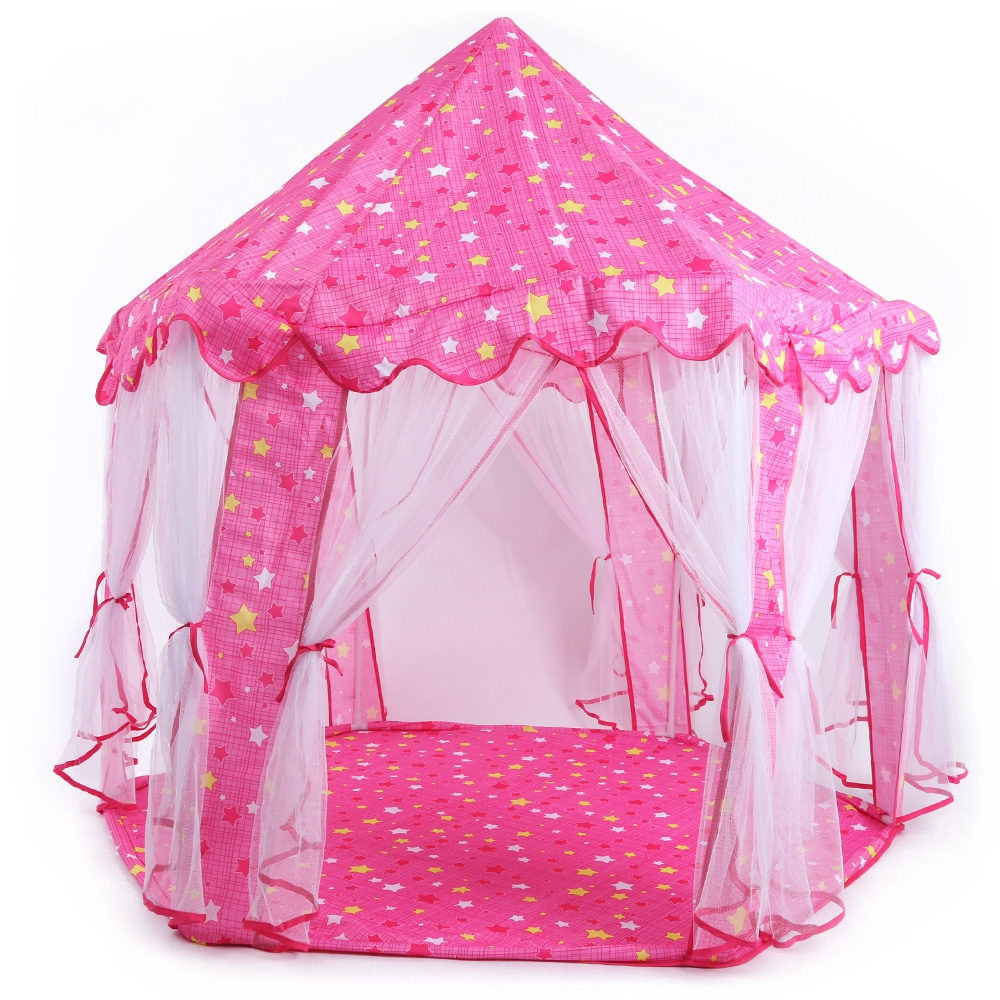 Flodable Fun Hexagon Princess Castle Play Tent Children's House Folding Toy tent for kids indoor ball Pool Outdoor playhouse(China (Mainland))
