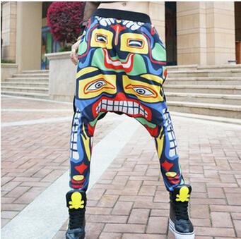 2015 New 3D Print Joggers Hip Hop Harem Pants Drop Crotch Pants Men/Women Casual Dance Sweatpants Bandana BM470(China (Mainland))