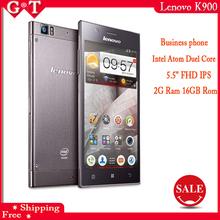 "Original Lenovo K900 5.5"" 1920x1080p Gorilla Glass 2GB RAM 13mp Intel Atom Duel Core Phone Android 4.2 Russian Multi Language"