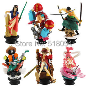New Japanese Anime One Piece Brook Shirahosh Luffy Franky Robin Zoro PVC Figure Set of 6 Pcs For Christmas Gifts Free Shipping<br><br>Aliexpress