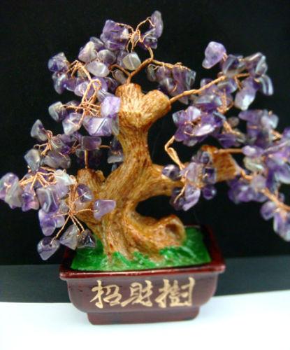 Natural Amethyst Money Tree Crystal Cure V1028(China (Mainland))