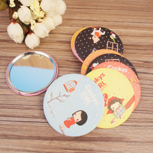 2016 New 1pcs Portable Makeup Mirror Round Shape Mini Beauty Cosmetic Makeup Mirror - Random Delivery(China (Mainland))