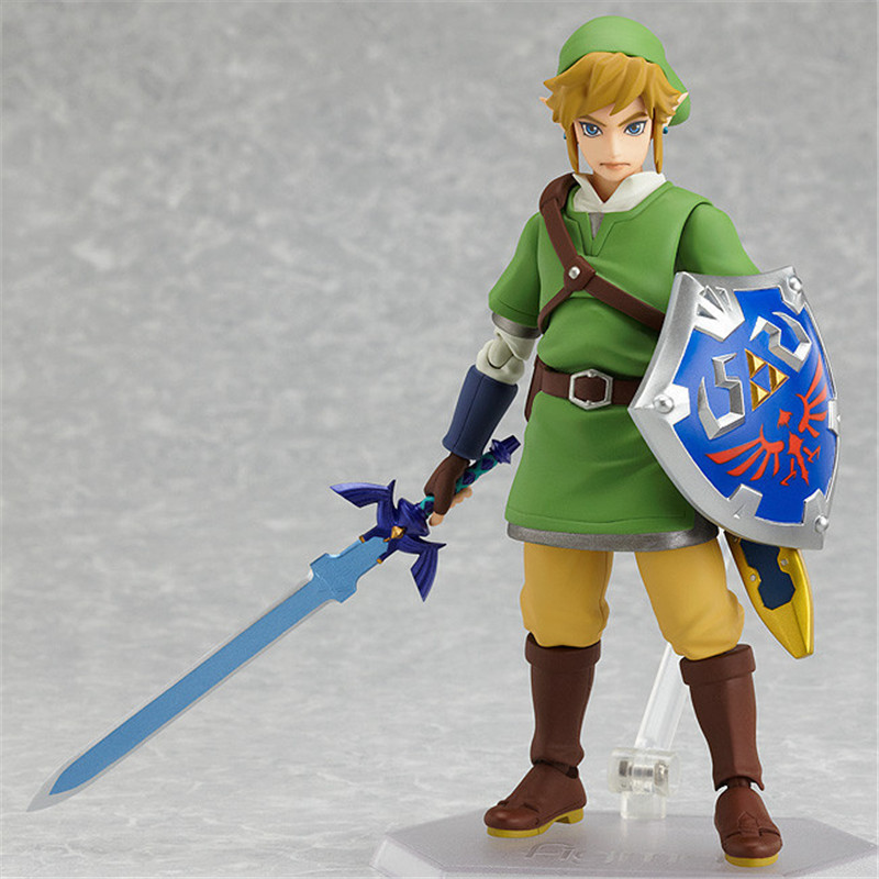 Anime Legend of Zelda Link With Skyward Sword Figma 153 Zelda PVC Action Figure Brinquedos Figuras Anime Collectible Kids Toys<br><br>Aliexpress