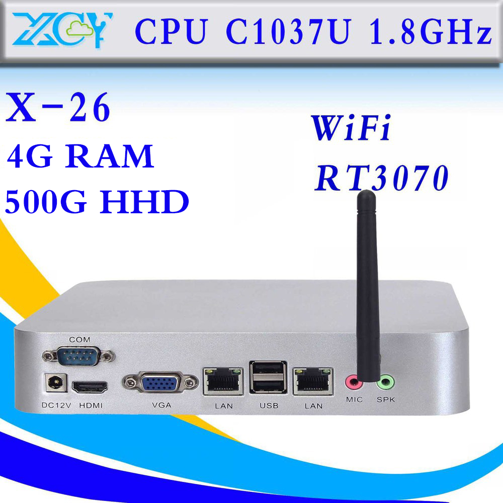 The Highest Ratio Of Celeron C1037U 4gb Ram 500gb hdd Embedded Thin Client Industrial Computer Mini Pc Support 3G And Wifi(China (Mainland))