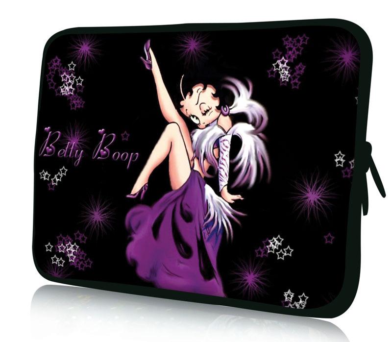 "10"" Purple Betty Boop Soft Universal Laptop Sleeve Bag Case For 10.1"" Samsung Galaxy Tab/Apple iPad 4 3 2 1(China (Mainland))"