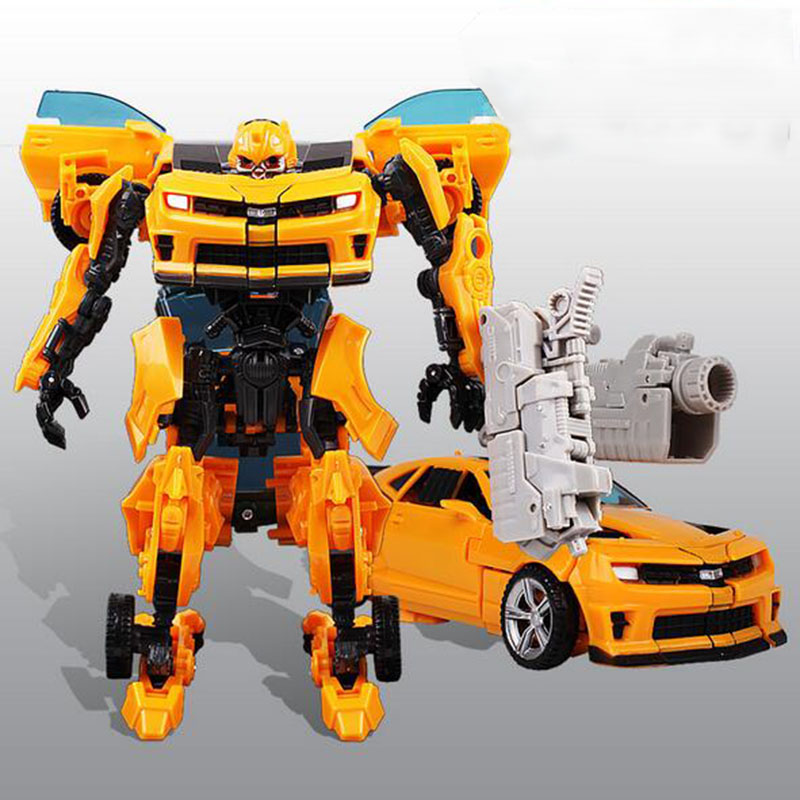 Bumblebee Transfor Auto Car 5-6-7-8 Years Boy Children Handmade Educational Transformation Toys Birthday Gift 2016 Popular(China (Mainland))
