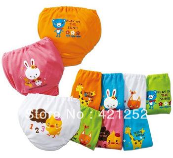 Free shipping 10pcs/lot wholesale baby underwear,100%cartoon baby underwear,  training pants, baby short chose size