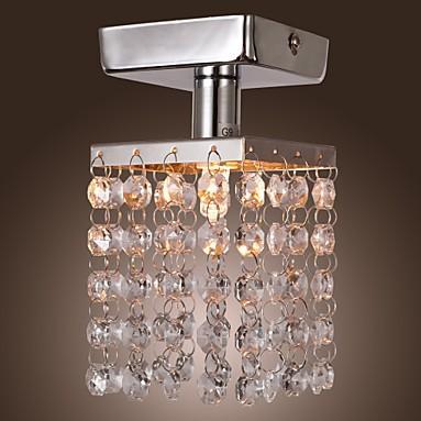 Free shipping Mini Semi Flush Mount in european chandelier crystal (Chrome Finish) 1 G9(China (Mainland))