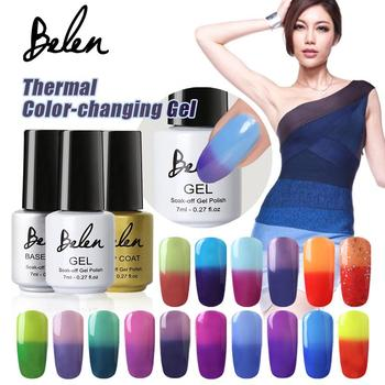 Belen 7ml Chameleon Temperature Change Color UV Gel Lacquer Professional Beauty Choices Soak-off Gel Nail LED Pick 1 Color
