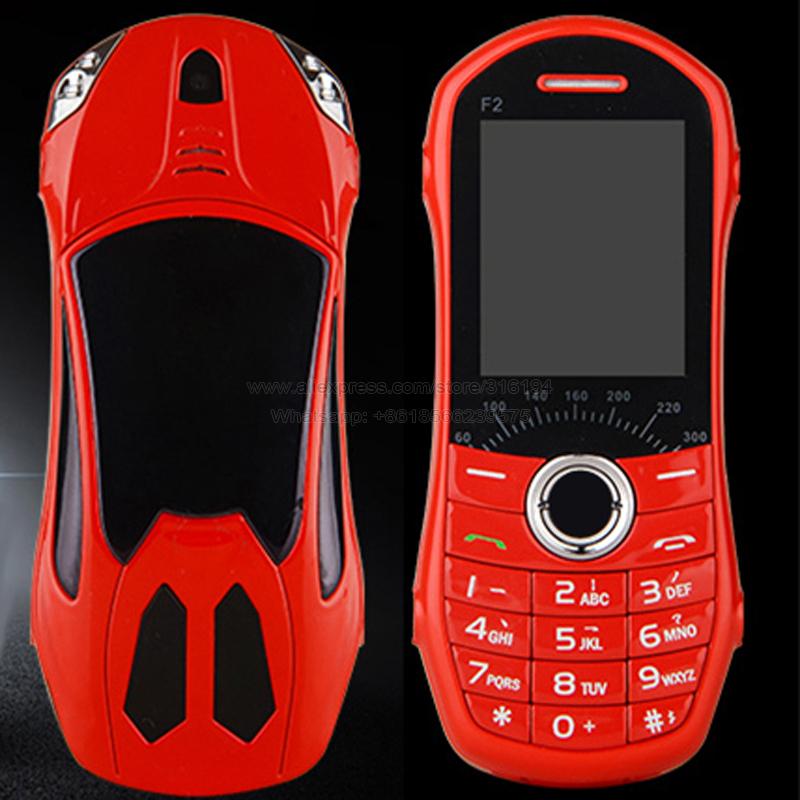 2015 Hot Sale Cool Marquee Light Mini Car Phone E-Book MP3/MP4 Dual Sim Cards Small Mobile Phone F2 P80(China (Mainland))