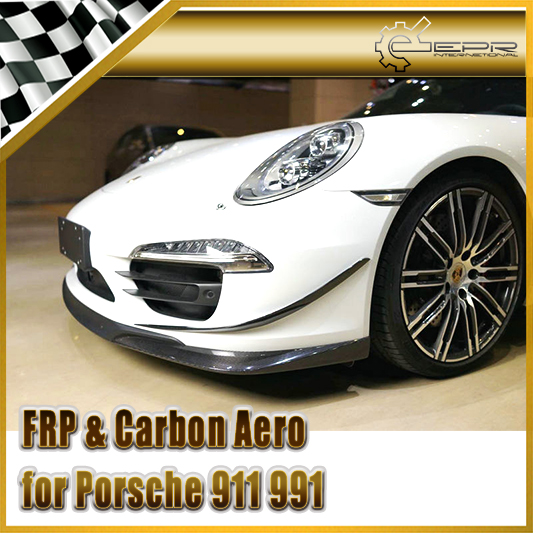 Racing For Porsche 911 991 SP Style Carbon Fiber Front Lip(China (Mainland))