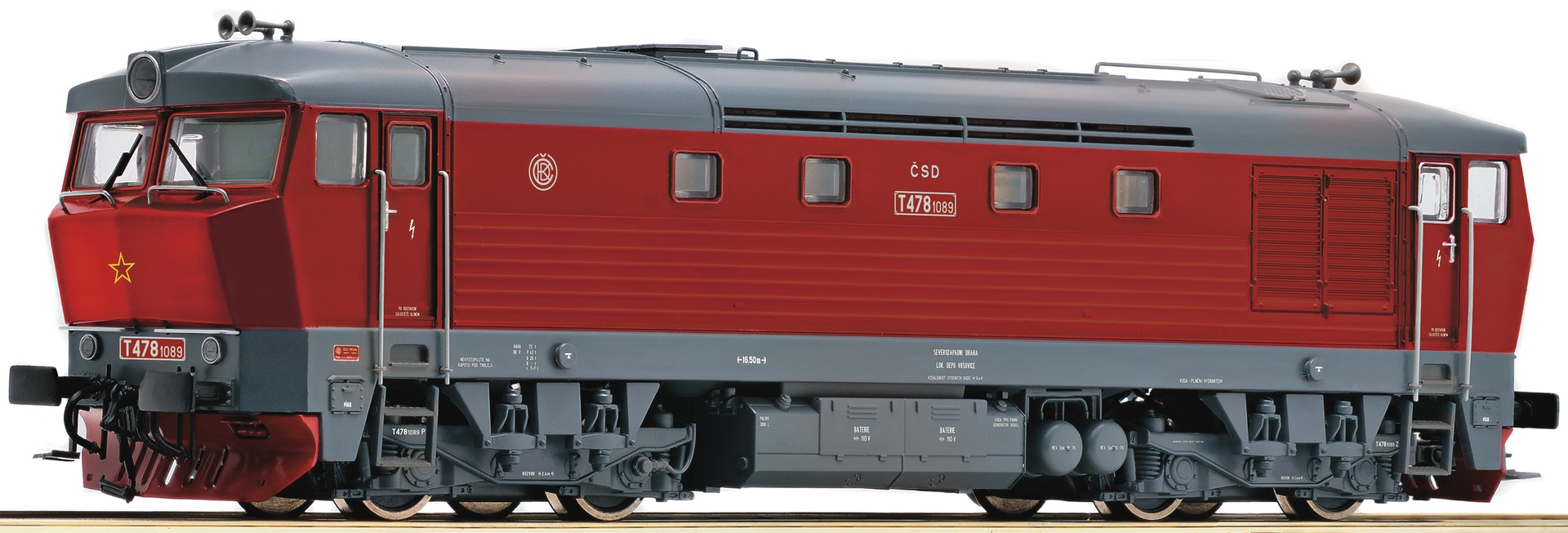 model train digital sound T 478.1 der CSD pentagram diesel locomotive # 72929<br><br>Aliexpress