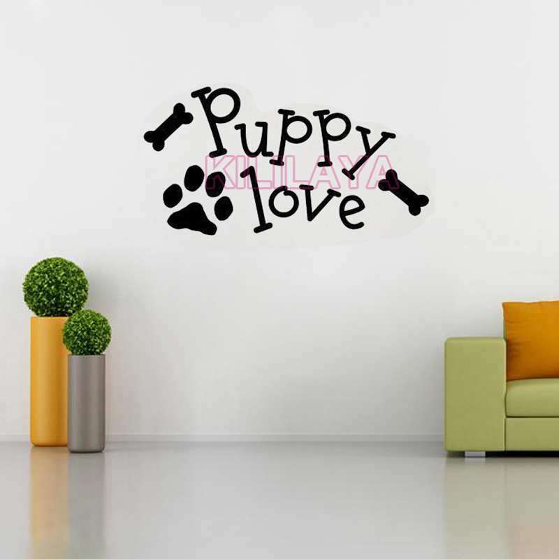 Puppy Love Paw Vinyl Wall Art Decal Wall Stickers Mural