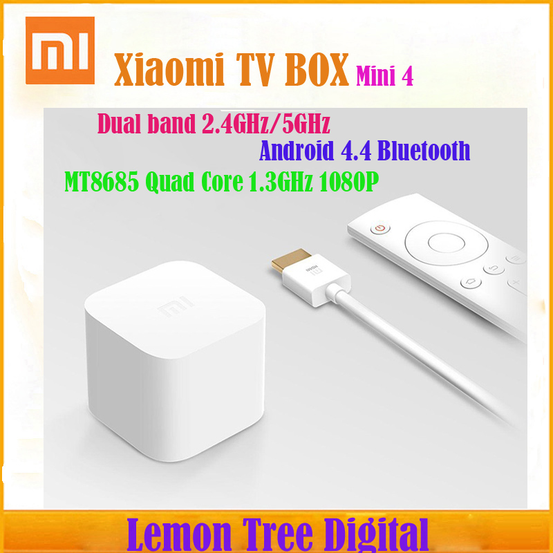 Singapore Post Original Xiaomi MiniTV Box MT8685 Quad Core 1.3GHz 1080P Mi Box Dual Band 2.4GHz/5GHz Android 4.4 Bluetooth<br><br>Aliexpress