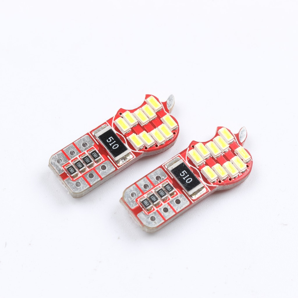 Z20231 2X 20 SMD 3014 LED T10 12961 2521 2825 W5W Wedge Side Luggage Light Reading Bulb Door Lamp Canbus Error Free Apple Shell(China (Mainland))